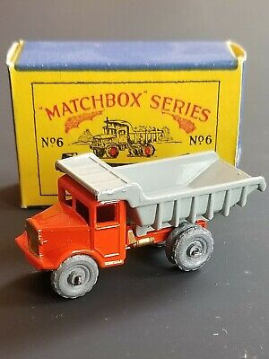 VINTAGE 1950s MATCHBOX 6a QUARRY TRUCK MINT IN B1 BOX ORIGINAL BEAUTY