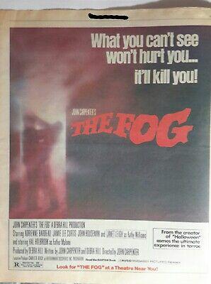 Vintage The Fog 1980 Original Color Advert 13x12 John Carpenter