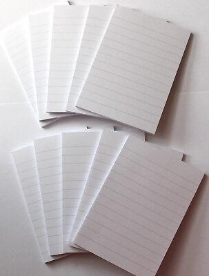 10 Notizblöcke Blöcke Blocks LINIERT DIN A7 weiß, Notizblocks Einkaufzettel Memo