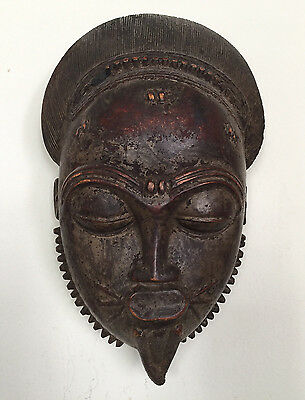 African Mask, Baule Tribe, Ivory Coast, Rare, Wooden, Old