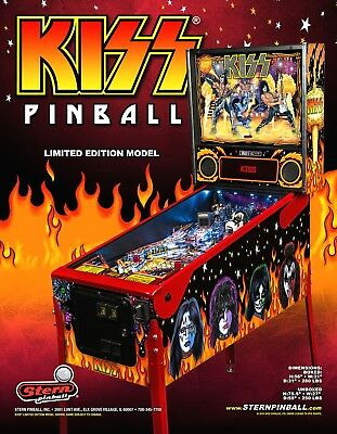 KISS Pinball FLYER Limited Edition LE 2015 Original NOS Hard Rock Music Artwork
