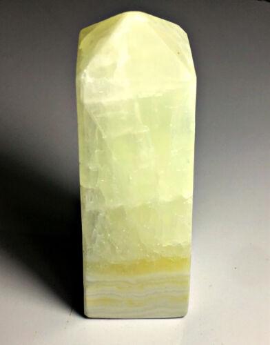 Glorious Green Color Calcite Healing Crystals Power Spirit Aura Meditation Tower