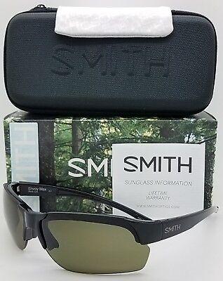 NEW Smith Envoy Max sunglasses Black Grey Green ChromaPop Polarized $189 m (Smith Envoy Sunglasses)