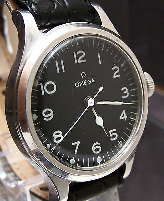 RARE VINTAGE OMEGA 56 RAF PILOTS WATCH EX WW2 6B/159 BRITISH MILITARY SERVICED