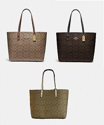 Coach F76636 Signature Town Tote Coated Canvas Handbag Purse BRAND NEW