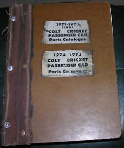 NICE-Mopar-71-Parts-72-Manual-73-Colt-74-Cricket-75-Dodge-Plymouth-Catalog-71-75