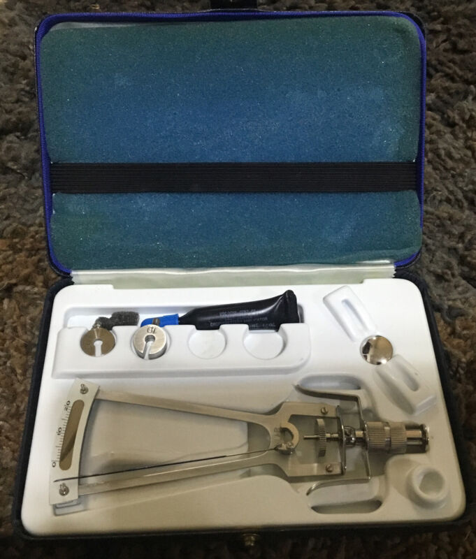 Vintage Schiotz tonometer For Intra-ocular Eye Pressures, All Paper Work Inlcude