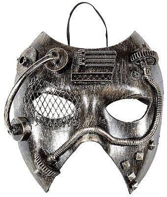 Punk Gesicht (Steampunk Gran Gala Maske NEU - Karneval Fasching Maske Gesicht)
