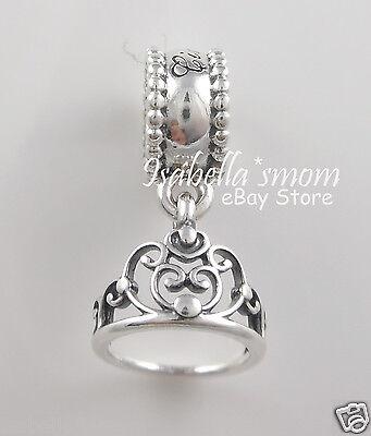ARA Genuine PANDORA Silver DANGLE CROWN Charm 791570 w POUCH (Disney Tiara)