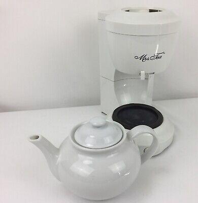 Mrs Tea by Mr Coffee 6 Cup Automatic Hot Tea Maker Ceramic Pot Model HTM1 White