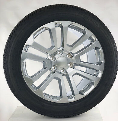"Chevy Silverado Suburban Tahoe Rims 22"" Chrome Split Spoke Wheels Tires Ltz"