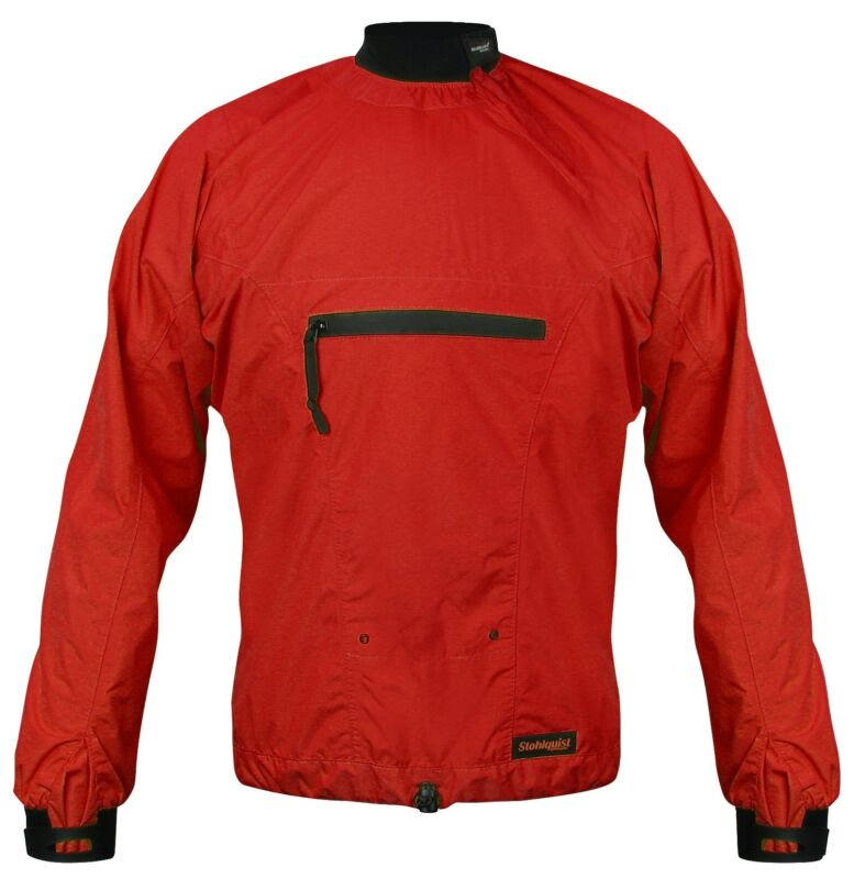 Stohlquist Torrent LS Jacket Red Waterproof Breathable Jacket for Paddling