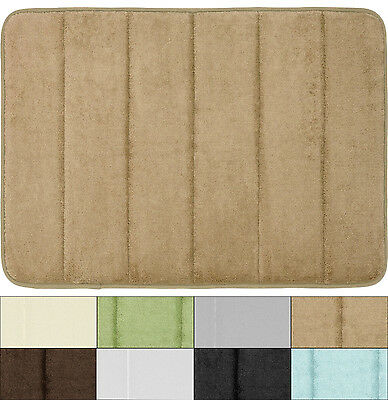 Super Soft and Absorbent Non Slip Memory Foam Bath Mat 21″x34″ 8 Colors Bath