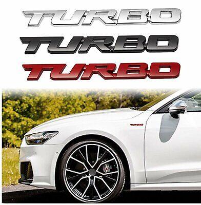 Turbo Badge Emblem Universal Metal Car Auto Fender Trunk Tailgate Decal Sticker Car & Truck Parts