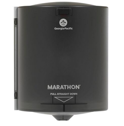 "Marathon Centerpull Paper Towel Dispenser, Smoke, 9.250"" W x 8.750"" D x 11.500"""