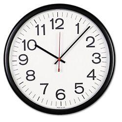Universal Indoor/Outdoor Clock, 13 1/2, Black