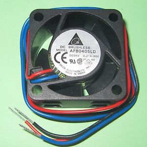 Delta-5V-DC-Brushless-Cooling-Fan-40mm-140mA-5000-RPM-AFB0405LD-Stall-Sensor
