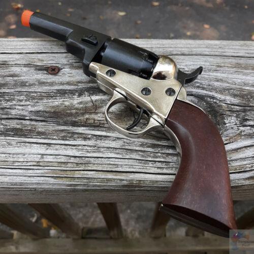 Denix 1849 Wells Fargo Revolver Replica Non-Firing Black Metal and Nickel Body