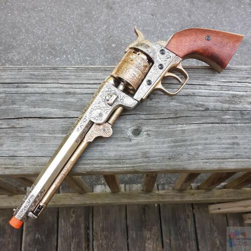 Denix Civil War 1851 Navy Revolver Replica Pistol Safe Non-Firing Brass Artwork