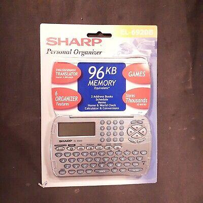 Sharp Personal Organizer El-6920b New Sealed Package
