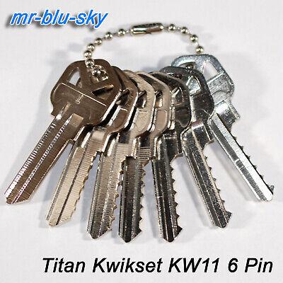 Titan Kwikset Lock Kw11 Space Depth Keys Locksmith Code Cutting Key Set