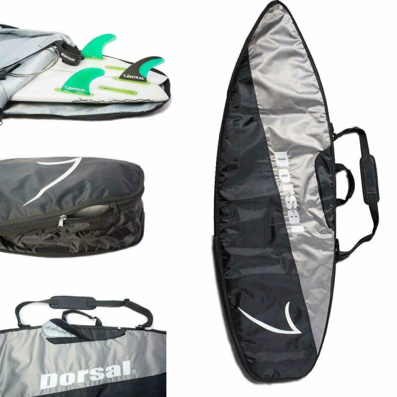 Dorsal Travel Shortboard Surfboard Board Bag / Black/Grey