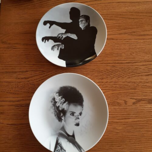 Pair of  Universal Frankenstein & Bride of Ceramic Plates by World Market