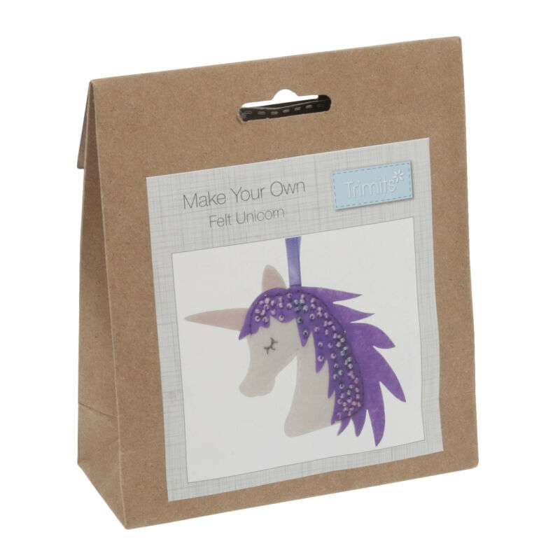 1x+Felt+Decoration+Thread+Kit+Unicorn+Sewing+Craft+Tool+Hobby+Art+UK
