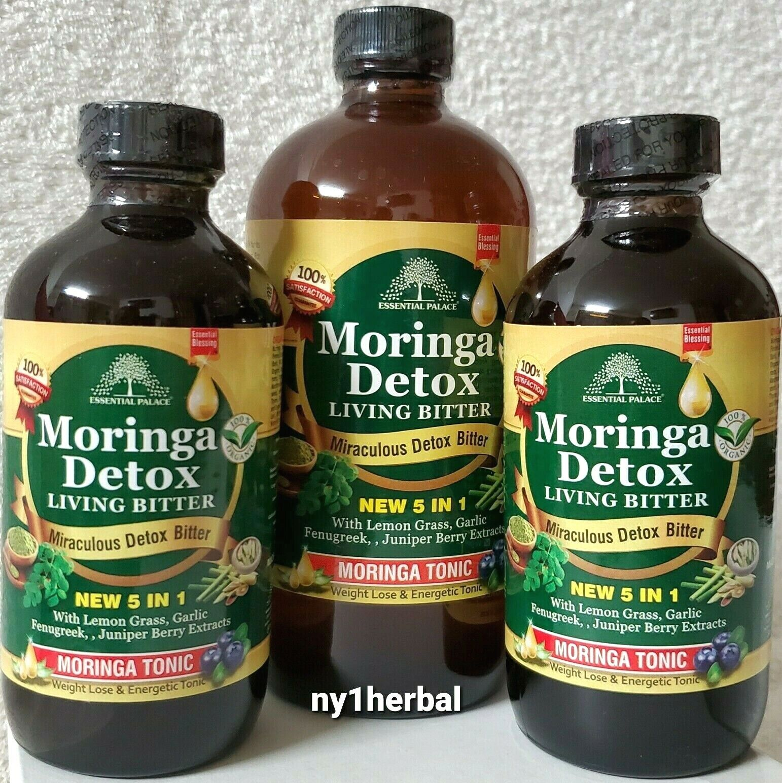 Essential Palace Organic MORINGA DETOX LIVING BITTERS . Made In USA