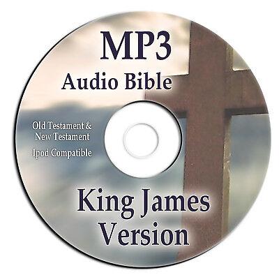 King James Version Audio Bible-Complete KJV Audiobook-66 Books on ONE MP3-CD-NEW