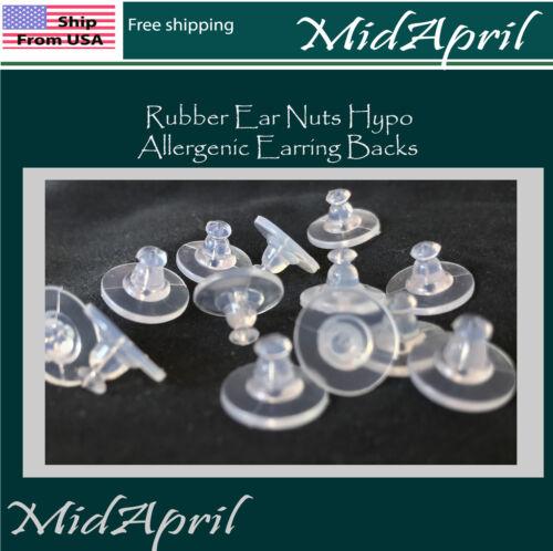 Rubber Ear Nuts Hypo-allergenic Earring Backs