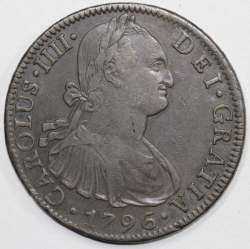 1796 Pillar Dollar Mexico 8 Reales