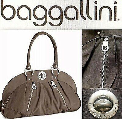 Baggallini Tote (NWOT $138 Baggallini Shanghai Satchel Tote Handbag Brown w/Matte Silver Hardware)