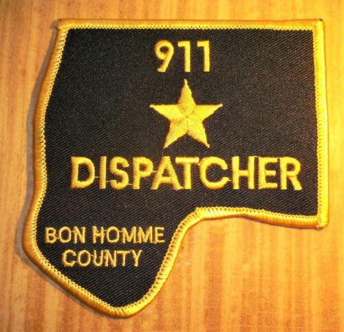 GEMSCO NOS Vintage Patch SHERIFF DISPATCHER 911 BON HOMME COUNTY SD Original 25+
