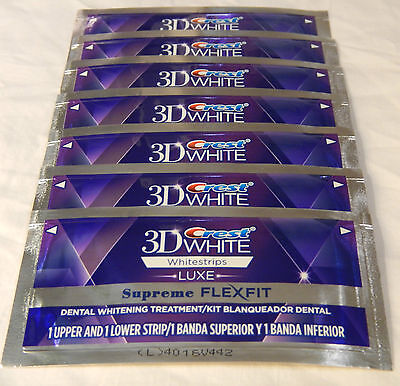 CREST 3D LUXE SUPREME FLEXFIT WHITE WHITESTRIPS 7 POUCHES 14 WHITESTRIPS on Rummage