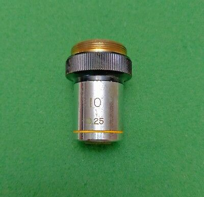 Wolfe Microscope Objective 10x0.25 Ca. 36mm Parfocal Dist. Works