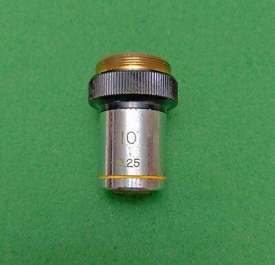 Wolfe Microscope Objective 10x0.25 Ca. 36mm Parfocal Dist. Works