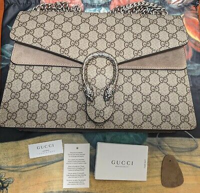 Gucci Dionysus Supreme Beige Medium Shoulder Bag