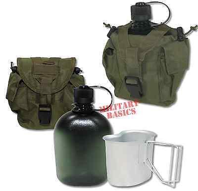Feldflasche Gen.II Molle Canteen cup Feldflaschenbecher oliv NEU BPA-frei