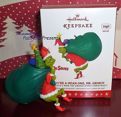 2016 HALLMARK KEEPSAKE ORNAMENT DR. SEUSS YOU'RE A MEAN ONE, MR. GRINCH MAGIC