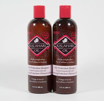 2 HASK Kalahari Melon Oil Color Protection SHAMPOO 12 fl oz
