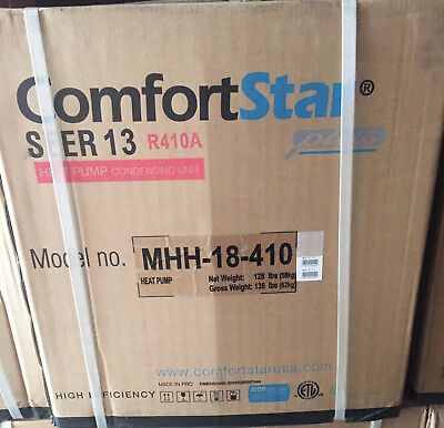 13 Seer Heat Pump (ComfortStar 1.5 Ton 13 Seer R410A Heat Pump Condenser -)