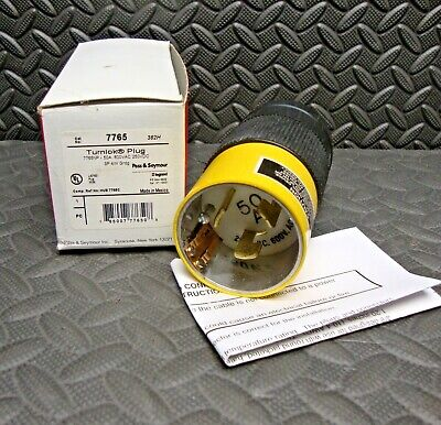20 Amp 347//600V Flanged Twist Lock Receptacle L23-20 2 Pole 3 W Equal to HBL2536