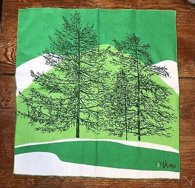 Vintage Scarf Styles -1920s to 1960s Vintage Vera Scarf Green Trees 🌲 $10.40 AT vintagedancer.com