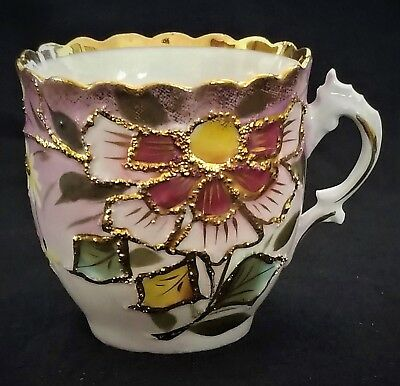 (Mustache CUP, porcelain, Germany, gilt,