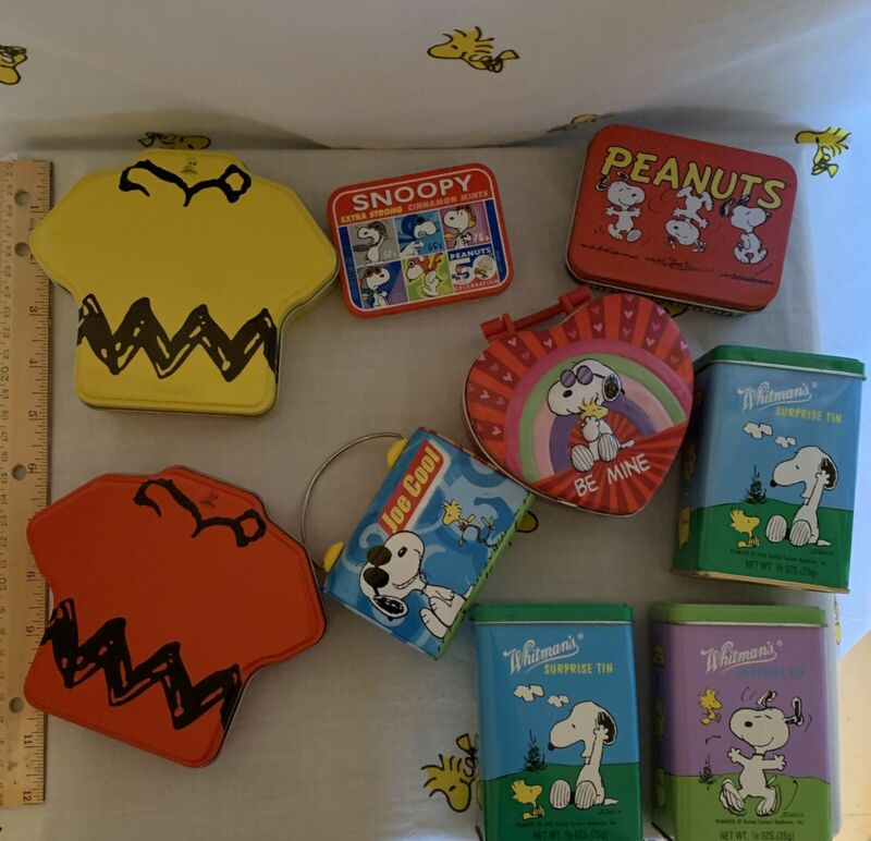 Peanuts Snoopy Collectible Tins Multiuse Multicute