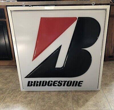Bridgestone Lighted Sign Genuine Huge 34x34x7
