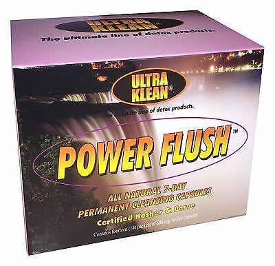 7 Flush (Ultra Klean Power Flush Natural 7 Day Permanent Cleansing Capsules Toxin Detox)