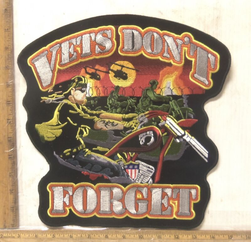 Vets Don't Forget Embroidered Back Patch