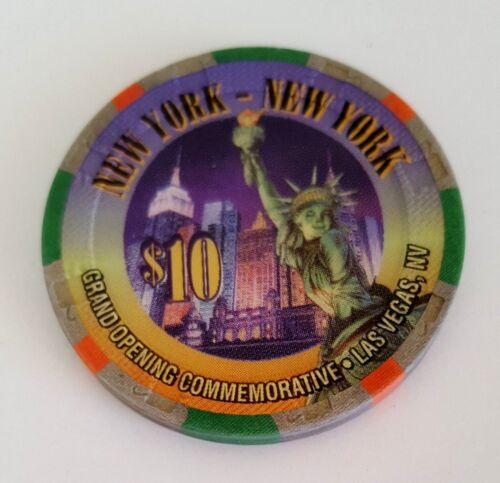 $10 Las Vegas New York New York Grand Opening Casino Chip - Near Mint
